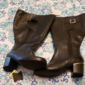 NWT Extra wide calf tall boots